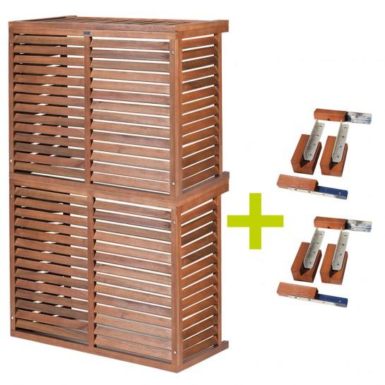 DECOCLIM® - Modèle double bois S avec kit rallonge