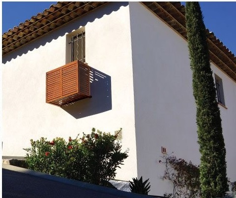 cacher clim sur le mur de facade